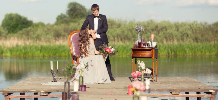 Свадебная съемка на природе